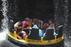 A Shipwreck Rapids Water Ride, SeaWorld, San Diego Royalty Free Stock Image