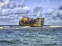 Shipwreck in San Andres, Colombia stock photography