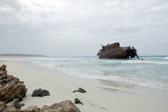 The shipwreck of Santa Maria in Boa Vista Stock Photography