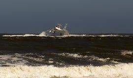 Shipwreck in the sea stock photos