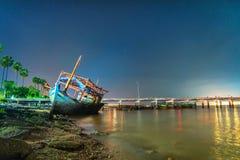 Shipwreck on the sea Stock Photos