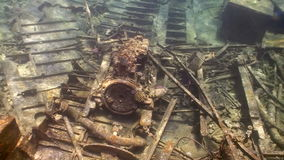 Shipwreck on the Seabed. Shoot of Shipwreck on the Seabed, Red Sea stock video footage