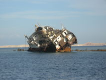 Shipwreck in Sharm el Sheikh royalty free stock photo
