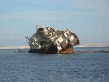 Shipwreck in Sharm el Sheikh Royalty Free Stock Photo