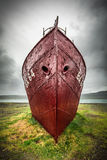 Shipwreck on the shore, Iceland Stock Images