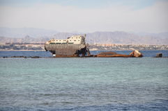 Shipwreck. From the Sinai Penisula,Sharm El Sheikh Royalty Free Stock Photos
