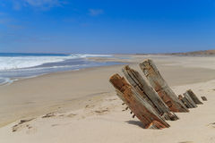 Shipwreck from Skeleton coast royalty free stock photography