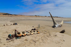 Shipwreck from Skeleton coast Royalty Free Stock Photos