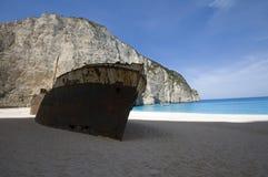 Shipwreck. Smuggler's shipwreck in Navagio, Zakynthos Royalty Free Stock Photo