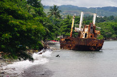 Shipwreck - Solomon Islands Royalty Free Stock Photos