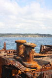 Shipwreck of SS Minmi in Sydney. Old rusted shipwreck SS Minmi in Sydney Australia Stock Images
