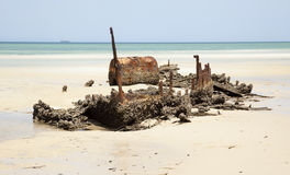 Shipwreck Tangalooma island Royalty Free Stock Image