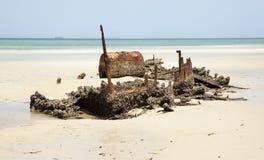Shipwreck Tangalooma island Royalty Free Stock Image