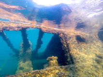 Shipwreck. At Tangalooma, Moreton Island, diver's eye view Stock Photo