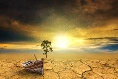 Shipwreck tree dry soil texture background Stock Photo