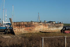 Shipwreck or very old boat Stock Image