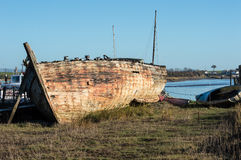 Shipwreck or very old boat Stock Photos