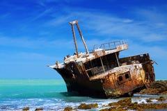 Shipwreck w Południowa Afryka Obrazy Royalty Free