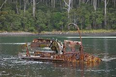 Shipwreck in the water Stock Photography