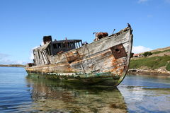 Shipwreck in west falklands Royalty Free Stock Photo