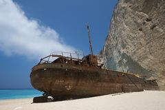 Shipwreck Zakynthos Royalty Free Stock Images