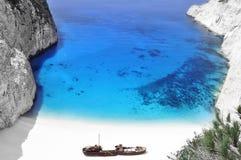 Shipwreck zante Royalty Free Stock Photography