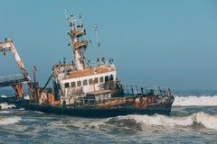 Shipwreck Zeila - Hentiesbaai Skeleton Coast, Namibia Africa royalty free stock photos