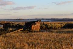 Shipwrecked boat Royalty Free Stock Photos