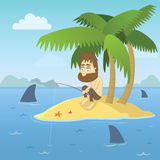 Shipwrecked Guy Royalty Free Stock Images