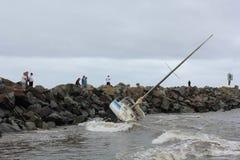 Shipwrecked no porto fotografia de stock