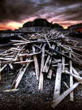 Shipwrecked Wood Royalty Free Stock Images