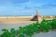 Shipwrecks. Shipwrecks at the beach in Hua Hin Thailand Royalty Free Stock Image