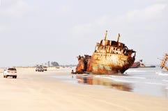 Shipwrecks at Barro Do Dande Stock Image