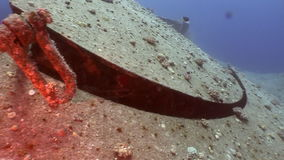 Shipwrecks Salem Express shipwrecks underwater in the Red Sea. Extreme tourism on the ocean floor in the world of coral reefs, fish, sharks. Researchers of stock footage