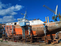 Shipyard Royalty Free Stock Images