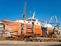 Shipyard. Stock Images
