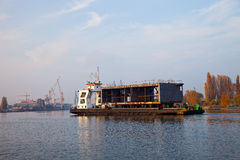 At the shipyard Stock Image