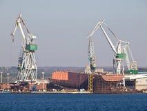 Shipyard Royalty Free Stock Images
