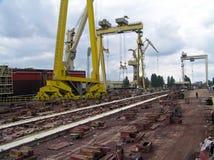 Shipyard. Shipbuilding industry stock photo