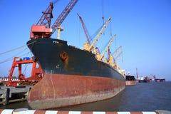 Shipyard. In island of shanghai,china Stock Photo