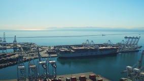 Shipyard Aerial stock footage