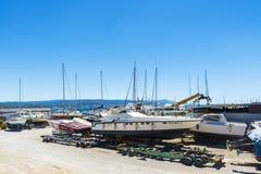 Shipyard in Alghero, Sardinia, Italy Royalty Free Stock Photography