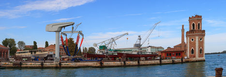 Shipyard, Arsenale in Venice Royalty Free Stock Photos