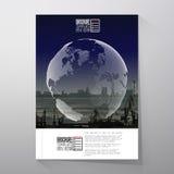 Shipyard and city landscape, night design, world Royalty Free Stock Photo