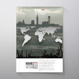Shipyard and city landscape, world map vector Stock Images