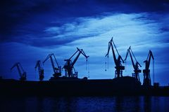 Shipyard crane Stock Photo