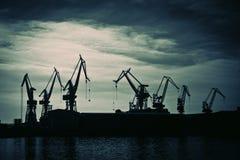 Shipyard crane Royalty Free Stock Images
