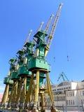Shipyard cranes Stock Photos