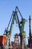 Shipyard Cranes Stock Photo