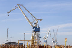 Shipyard cranes Royalty Free Stock Photo